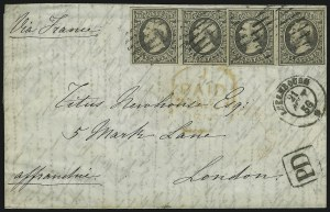 Sale Number 885, Lot Number 2136, Stamped Mail by CountryLUXEMBOURG, 1852, 10c Gray Black (1), LUXEMBOURG, 1852, 10c Gray Black (1)