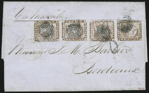 Sale Number 885, Lot Number 2137, Stamped Mail by CountryMAURITIUS, 1848, 1p Deep Red Brown, Worn Impression (5c; SG 19), MAURITIUS, 1848, 1p Deep Red Brown, Worn Impression (5c; SG 19)