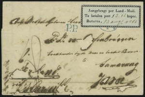 Sale Number 885, Lot Number 2138, Stamped Mail by CountryNETHERLANDS INDIES, 1845-46, (Unstated Value) Black on Bluish, Postage Due (J2), NETHERLANDS INDIES, 1845-46, (Unstated Value) Black on Bluish, Postage Due (J2)