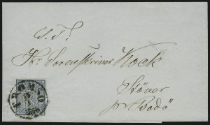 Sale Number 885, Lot Number 2141, Stamped Mail by CountryNORWAY, 1855, 4s Blue (1), NORWAY, 1855, 4s Blue (1)