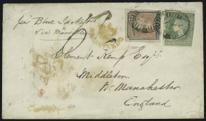 Sale Number 885, Lot Number 2171, Stamped Mail by CountryVICTORIA, 1854, 1/- Rose & Blue, Registration (F1), VICTORIA, 1854, 1/- Rose & Blue, Registration (F1)