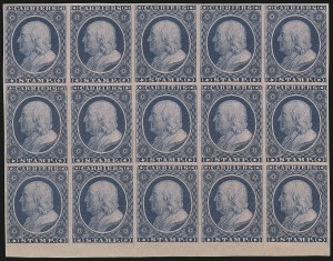 Sale Number 889, Lot Number 2038, Carriers and Locals(1c) Blue on Rose, Franklin Carrier Reprint (LO3), (1c) Blue on Rose, Franklin Carrier Reprint (LO3)