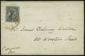 Sale Number 889, Lot Number 2042, Carriers and LocalsU.S. City Despatch Post, New York N.Y., 3c Black on Light Blue Unsurfaced (6LB3), U.S. City Despatch Post, New York N.Y., 3c Black on Light Blue Unsurfaced (6LB3)