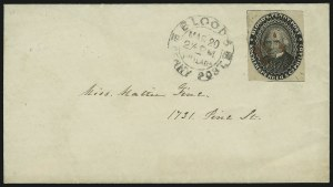 Sale Number 889, Lot Number 2047, Carriers and LocalsBlood's Penny Post, Philadelphia Pa., (1c) Black (15L18), Blood's Penny Post, Philadelphia Pa., (1c) Black (15L18)