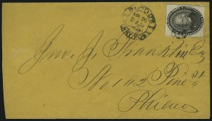 Sale Number 889, Lot Number 2048, Carriers and LocalsBlood's Penny Post, Philadelphia Pa., (1c) Black (15L18), Blood's Penny Post, Philadelphia Pa., (1c) Black (15L18)