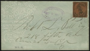 Sale Number 889, Lot Number 2053, Carriers and LocalsBoyd's Dispatch, New York N.Y., (unstated value) Black on Crimson (20L43), Boyd's Dispatch, New York N.Y., (unstated value) Black on Crimson (20L43)