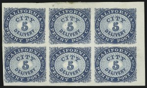 Sale Number 889, Lot Number 2054, Carriers and LocalsCalifornia Penny Post Co., San Francisco, 5c Blue (34L2), California Penny Post Co., San Francisco, 5c Blue (34L2)