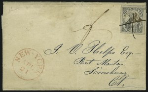 Sale Number 889, Lot Number 2055, Carriers and Locals(Greig's) City Despatch Post, New York N.Y., 3c Black on Grayish (40L1), (Greig's) City Despatch Post, New York N.Y., 3c Black on Grayish (40L1)