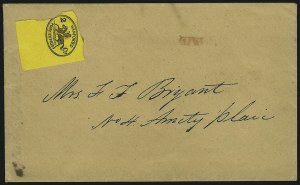 Sale Number 889, Lot Number 2063, Carriers and LocalsHanford's Pony Express, New York N.Y., 2c Black on Orange Yellow (78L1), Hanford's Pony Express, New York N.Y., 2c Black on Orange Yellow (78L1)