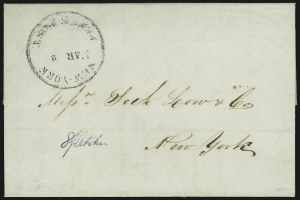 Sale Number 889, Lot Number 2065, Carriers and LocalsNew-York Penny Post Mar. 2, New-York Penny Post Mar. 2