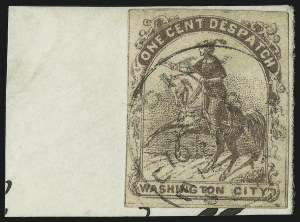 Sale Number 889, Lot Number 2066, Carriers and LocalsOne Cent Despatch (Wiley), Washington D.C., 1c Violet (112L1), One Cent Despatch (Wiley), Washington D.C., 1c Violet (112L1)