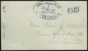 Sale Number 889, Lot Number 2069, Carriers and LocalsLetter Express, San Francisco, Letter Express, San Francisco