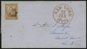 Sale Number 889, Lot Number 2071, Carriers and LocalsSwarts' City Dispatch Post, New York N.Y., (2c) Red on Wove (136L4), Swarts' City Dispatch Post, New York N.Y., (2c) Red on Wove (136L4)