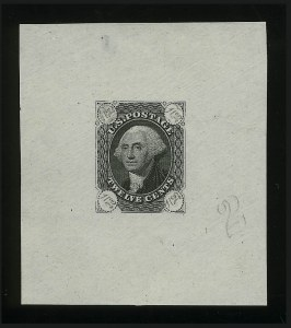 Sale Number 890, Lot Number 103, 1861 Issue 12c Black, Die Essay on Old Proof Paper, Diagonal Numerals (69-E4e), 12c Black, Die Essay on Old Proof Paper, Diagonal Numerals (69-E4e)