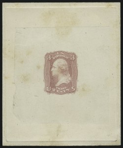 Sale Number 890, Lot Number 137, 1861 Issue 3c Pink, First Design, Die Essay on India (65-E15c; formerly 56TC1), 3c Pink, First Design, Die Essay on India (65-E15c; formerly 56TC1)