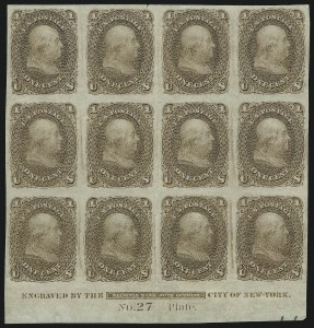 Sale Number 890, Lot Number 168, 1861 Issue 1c Brown, Trial Color Plate Proof on Bond (63TC4), 1c Brown, Trial Color Plate Proof on Bond (63TC4)