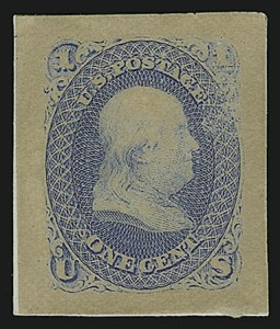 Sale Number 890, Lot Number 173, 1861 Issue 1c Blue, Panama-Pacific Small Die Proof on Wove (63P2a), 1c Blue, Panama-Pacific Small Die Proof on Wove (63P2a)