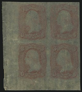 Sale Number 890, Lot Number 177, 1861 Issue 3c Rose, Lowenberg Decalcomania, Plate Proof (65TC), 3c Rose, Lowenberg Decalcomania, Plate Proof (65TC)