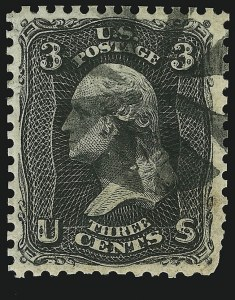 Sale Number 890, Lot Number 182, 1861 Issue 3c Black, Trial Color Plate Proof (65TC), 3c Black, Trial Color Plate Proof (65TC)