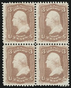 Sale Number 890, Lot Number 184, 1861 Issue 3c Rose, Trial Color Plate Proof, Perforated and Gummed (65TC), 3c Rose, Trial Color Plate Proof, Perforated and Gummed (65TC)