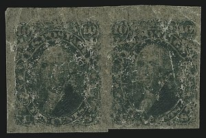 Sale Number 890, Lot Number 189, 1861 Issue 10c Green, Lowenberg Decalcomania, Plate Proof (68TC), 10c Green, Lowenberg Decalcomania, Plate Proof (68TC)