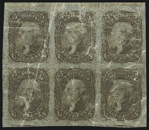 Sale Number 890, Lot Number 200, 1861 Issue 5c Brown, Lowenberg Decalcomania, Plate Proof (76TC), 5c Brown, Lowenberg Decalcomania, Plate Proof (76TC)