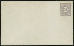 Sale Number 890, Lot Number 289, 1867 Grilled Issue Essays2c Lilac on White, Postal Stationery Essay (Undersander E36Aa), 2c Lilac on White, Postal Stationery Essay (Undersander E36Aa)