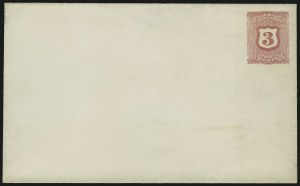 Sale Number 890, Lot Number 290, 1867 Grilled Issue Essays3c Red on White, Postal Stationery Essay (Undersander E37B-a), 3c Red on White, Postal Stationery Essay (Undersander E37B-a)