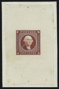 Sale Number 890, Lot Number 310, 1869 Pictorial Issue Essays5c Washington, Large Lettering, Large Die Essay on India (115-E1b), 5c Washington, Large Lettering, Large Die Essay on India (115-E1b)