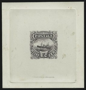 Sale Number 890, Lot Number 335, 1869 Pictorial Issue Essays12c Dull Violet, Small Numeral, Large Die Essay on India (117-E1c), 12c Dull Violet, Small Numeral, Large Die Essay on India (117-E1c)