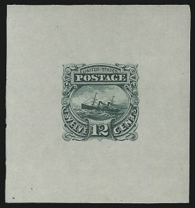 Sale Number 890, Lot Number 336, 1869 Pictorial Issue Essays12c Small Numeral, Large Die Essay on India (117-E1c), 12c Small Numeral, Large Die Essay on India (117-E1c)