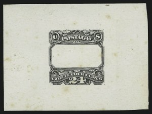 Sale Number 890, Lot Number 348, 1869 Pictorial Issue Essays24c Black, Frame Die Essay on India (120-E3b), 24c Black, Frame Die Essay on India (120-E3b)