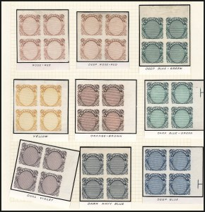 Sale Number 890, Lot Number 361, 1869 Pictorial Issue Essays90c Frame Only, Plate Essay on Stamp Paper (122-E3), 90c Frame Only, Plate Essay on Stamp Paper (122-E3)