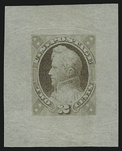 Sale Number 890, Lot Number 416, 1870 Issue 2c Dull Violet, Incomplete Die Essay on Semi-Transparent Paper (146-E7 var), 2c Dull Violet, Incomplete Die Essay on Semi-Transparent Paper (146-E7 var)