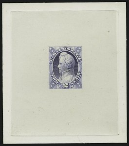 Sale Number 890, Lot Number 417, 1870 Issue 2c Jackson, Unadopted Design, Large Die Essay on India (146-E7a), 2c Jackson, Unadopted Design, Large Die Essay on India (146-E7a)