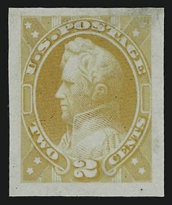 Sale Number 890, Lot Number 418, 1870 Issue 2c Jackson, Canary Yellow, Unadopted Design, Large Die Essay on India (146-E7a), 2c Jackson, Canary Yellow, Unadopted Design, Large Die Essay on India (146-E7a)