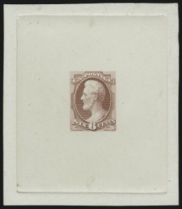 Sale Number 890, Lot Number 426, 1870 Issue 6c Pale Rose, Lincoln Die Essay on India (148-E11), 6c Pale Rose, Lincoln Die Essay on India (148-E11)