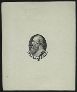 Sale Number 890, Lot Number 427, 1870 Issue 7c Black, Vignette Only, Die Essay on White Glazed Paper (149-E5b), 7c Black, Vignette Only, Die Essay on White Glazed Paper (149-E5b)