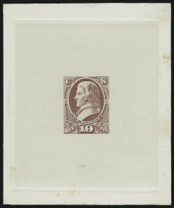 Sale Number 890, Lot Number 430, 1870 Issue 10c Jefferson, Large Die Essay of Unadopted Design (150-E3a), 10c Jefferson, Large Die Essay of Unadopted Design (150-E3a)