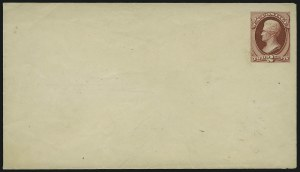 Sale Number 890, Lot Number 446, 1870 Issue 2c Carmine on Buff, Postal Stationery Essay (Undersander E36Cm), 2c Carmine on Buff, Postal Stationery Essay (Undersander E36Cm)