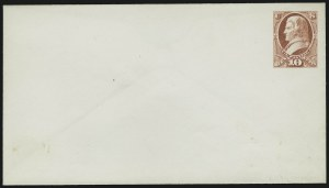 Sale Number 890, Lot Number 449, 1870 Issue 10c Rose on White, Postal Stationery Essay (Undersander E39B var), 10c Rose on White, Postal Stationery Essay (Undersander E39B var)