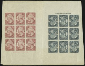 Sale Number 890, Lot Number 457, 1877 Essays 3c Washington, Plate Essay on Stamp Paper, Imperforate (184-E4c), 3c Washington, Plate Essay on Stamp Paper, Imperforate (184-E4c)