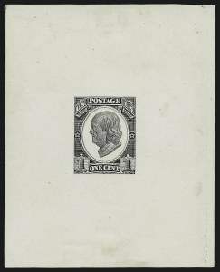 Sale Number 890, Lot Number 461, Continental Bank Note Co.1c Franklin, Die Essay on White Glazed Paper (182-E4c), 1c Franklin, Die Essay on White Glazed Paper (182-E4c)