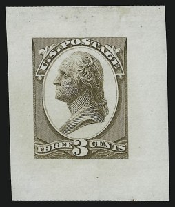 Sale Number 890, Lot Number 462, Continental Bank Note Co.3c Washington, Die Essay on Proof Paper (184-E10b), 3c Washington, Die Essay on Proof Paper (184-E10b)