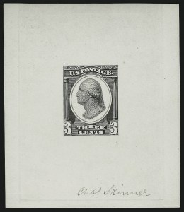 Sale Number 890, Lot Number 468, Continental Bank Note Co.3c Washington, Die Essay on White Glazed Paper (184-E14b), 3c Washington, Die Essay on White Glazed Paper (184-E14b)