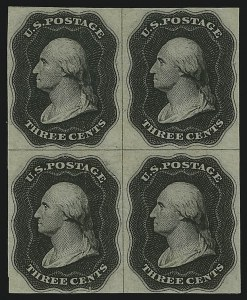 Sale Number 890, Lot Number 50, 1851 Issue 3c Black, Plate Essay on White Wove, Single Line Frame (11-E12g), 3c Black, Plate Essay on White Wove, Single Line Frame (11-E12g)