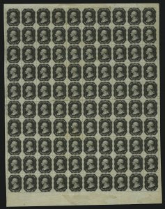 Sale Number 890, Lot Number 52, 1851 Issue 3c Black, Plate Essay on White Wove, Single Line Frame (11-E12g), 3c Black, Plate Essay on White Wove, Single Line Frame (11-E12g)