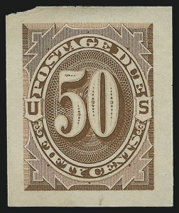 Sale Number 890, Lot Number 580, Postage Dues1c-50c Brown, 1879 Issue, Panama-Pacific Small Die Proofs on Soft Yellowish Wove (J1P2a-J7P2a), 1c-50c Brown, 1879 Issue, Panama-Pacific Small Die Proofs on Soft Yellowish Wove (J1P2a-J7P2a)