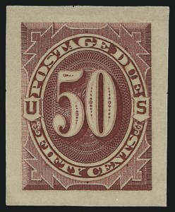 Sale Number 890, Lot Number 582, Postage Dues1c-50c Bright Claret, 1891 Issue, Panama-Pacific Small Die Proofs on Soft Yellowish Wove (J22P2a-J28P2a), 1c-50c Bright Claret, 1891 Issue, Panama-Pacific Small Die Proofs on Soft Yellowish Wove (J22P2a-J28P2a)
