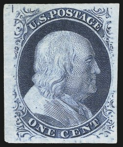 Sale Number 890, Lot Number 67, 1851 Issue 1c Blue, Ty. V, Plate Proof on India (24P3), 1c Blue, Ty. V, Plate Proof on India (24P3)